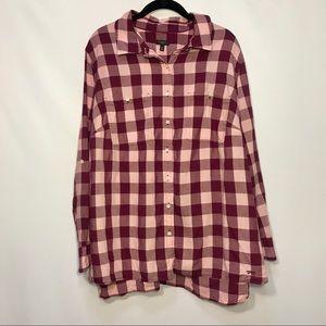 Talbots 2XL Purple Button Down Shirt